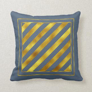 Magical Christmas Stripes Gold ID441 Throw Pillow