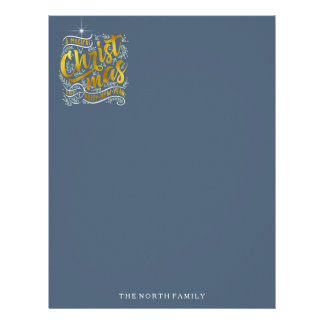 Magical Christmas Typography Gold ID441 Letterhead