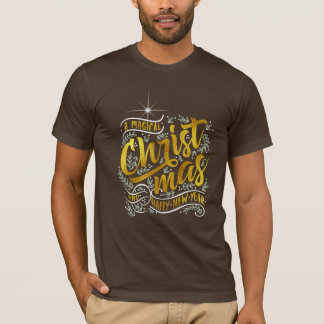 Magical Christmas Typography Gold ID441 T-Shirt