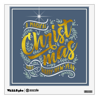Magical Christmas Typography Gold ID441 Wall Decal