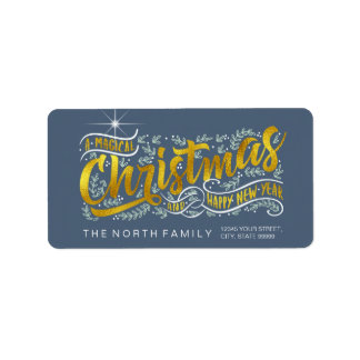 Magical Christmas Typography Horizontal Gold ID441