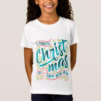 Magical Christmas Typography Teal ID441 T-Shirt