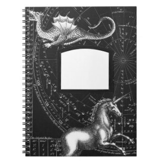 Magical Creatures Constellation Notepad Spiral Notebook