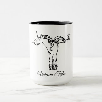 Magical Cute Monogram T Unicorn Tyler or Your Text Mug
