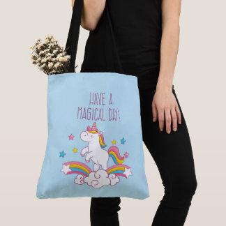 Magical Day Rainbow Unicorn Tote Bag