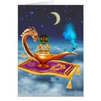 Magical Dragon Lamp Card