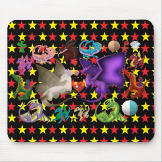 Magical Dragons Mouse Pad Star