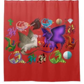 Magical Dragons Shower Curtain