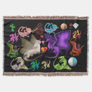Magical Dragons Throw Blanket