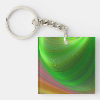 Magical Earth Double-Sided Square Acrylic Keychain
