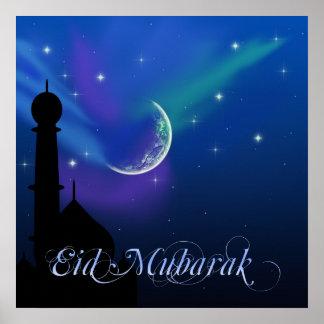 Magical Eid Night - Islamic Greeting Poster Print