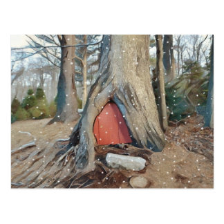 Magical Elf House Postcard