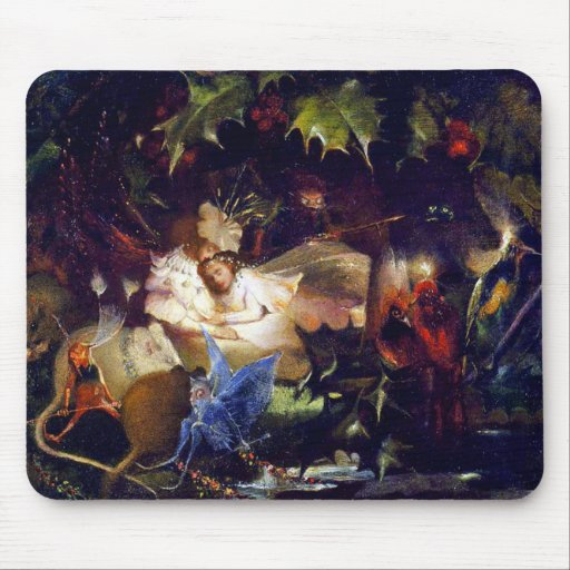 Magical Fairy Fantasy Painting: The Fairy Bower Mouse Pads