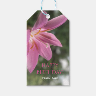 Magical Fairy Lily Custom Birthday Gift Tags Pack Of Gift Tags
