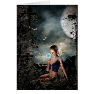 Magical Fairy Tale Full Moon Friendship Blank Card