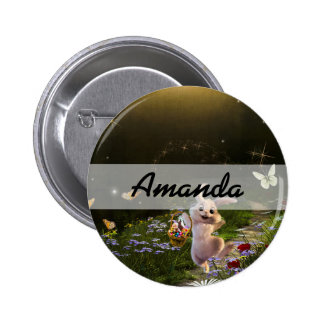 Magical Fantasy Easter Bunny Scene 2 Inch Round Button