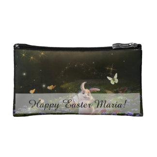 Magical Fantasy Easter Bunny Scene Cosmetic Bag