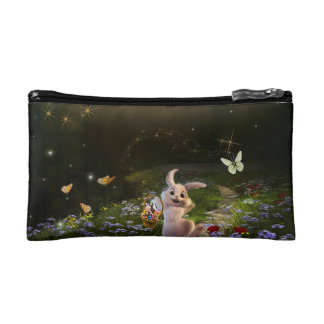 Magical Fantasy Easter Bunny Scene Cosmetic Bags