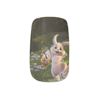 Magical Fantasy Easter Bunny Scene Fingernail Decal