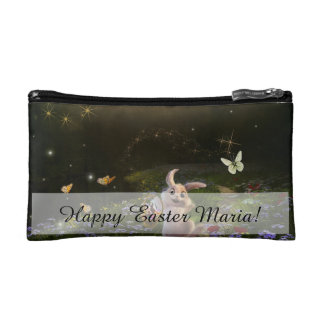 Magical Fantasy Easter Bunny Scene Makeup Bag