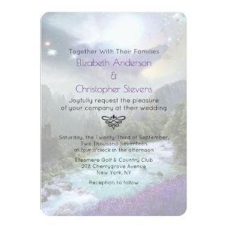Magical Fantasy Scenic Landscape Wedding Invite