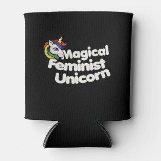 magical feminist unicorn can cooler