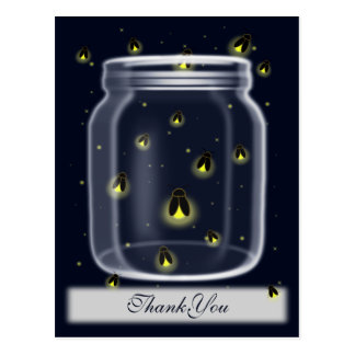 magical fireflies mason jar thank you cards