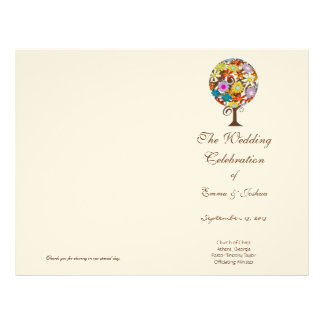 Magical Forest Circle of Love Flower Tree Wedding Letterhead