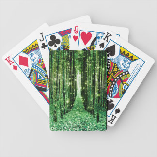 Magical Forest Green Mystery Bicycle Playing Cards