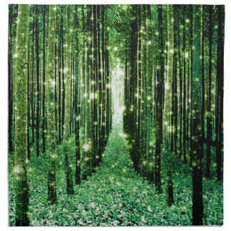Magical Forest Green Mystery Napkin