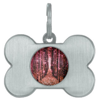 Magical Forest Path Pink Peach Pet Tag