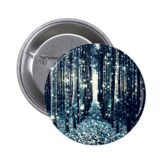 Magical Forest Teal Gray Elegance 2 Inch Round Button