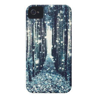 Magical Forest Teal Gray Elegance Case-Mate iPhone 4 Case