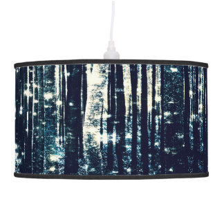 Magical Forest Teal Gray Elegance Lamp & Shades