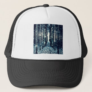 Magical Forest Teal Gray Elegance Trucker Hat