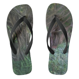 Magical Forest Trees Flip Flops