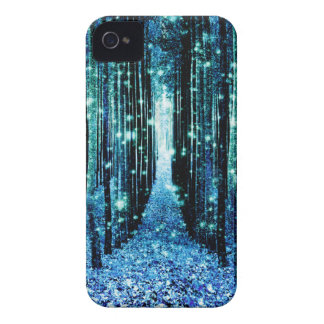 Magical Forest Turquoise Teal iPhone 4 Case
