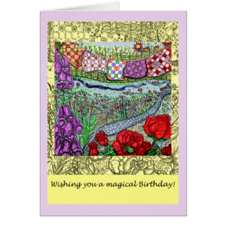 Magical Garden Birthday Wish Card