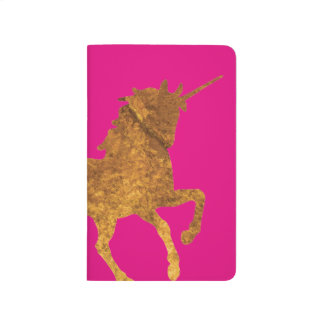 Magical Golden Prancing unicorn in textured finish Journal