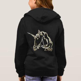Magical Golden Unicorn Monogram A Cute Hoodie