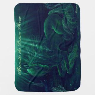 Magical green blanket - Mercutio the Dream Horse Swaddle Blanket