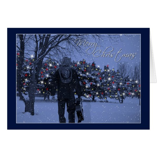 Magical Guitar Christmas Card