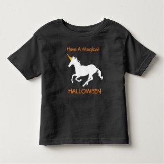 Magical Halloween Candy Corn Unicorn Toddler T-shirt