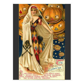 Magical Halloween Greetings Postcard
