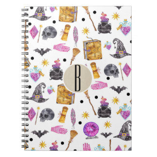 Magical Halloween Watercolor Whimsical Fortune Notebook