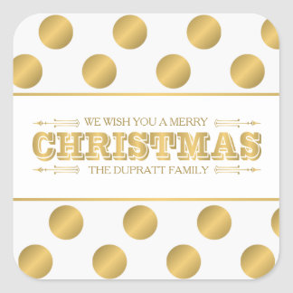 Magical Holiday, Merry Christmas Square Sticker