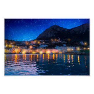 Magical Italian Isle of Capri - 12x8 Archival Poster