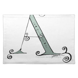Magical Letter A from tony fernandes design Placemat