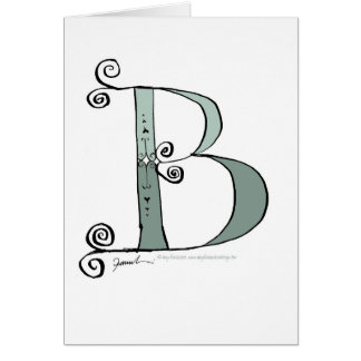 Magical Letter B from tony fernandes design Card