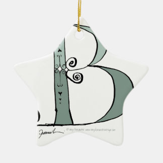 Magical Letter B from tony fernandes design Ceramic Ornament